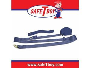 Safe Tboy 3pt Dark Blue Retractable Standard Buckle - Each  STBSB3RSDB