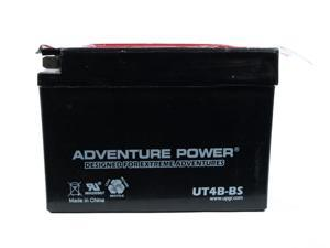 UPG Adventure Power UT4B-BS Dry Charge AGM Power Sports Battery 43004