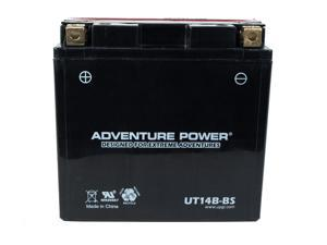 UPG Adventure Power UT14B-BS Dry Charge AGM Power Sports Battery 43026