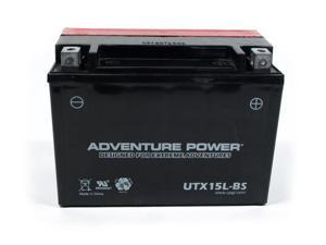 UPG Adventure Power UTX15L-BS Dry Charge AGM Power Sports Battery 42034