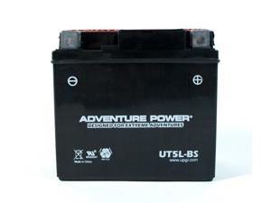 UPG Adventure Power UT5L-BS Dry Charge AGM Power Sports Battery 43000