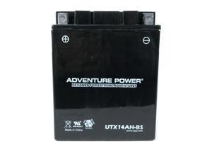 UPG Adventure Power UTX14AH-BS Dry Charge AGM Power Sports Battery 43024