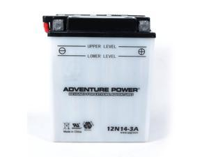 UPG Adventure Power 12N14-3A Conventional Power Sports Battery 41545