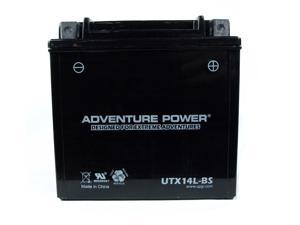 UPG Adventure Power UTX14L-BS Dry Charge AGM Power Sports Battery 43023