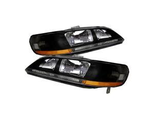 Spyder Auto Honda Accord 98-02 Amber Crystal Headlights - Black 5022509