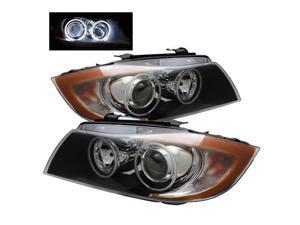 Spyder Auto BMW E90 3-Series 06-08 4Dr CCFL Halo Projector Headlights - Black 5021830