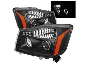 Spyder Auto Nissan Titan 04-13 / Nissan Armada 04-07 Projector Headlights - LED Halo - Black 5077103