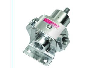 Professional Products Powerflow Carburetor Fuel Pressure Regulator&#59; 4 Port&#59; 4.5 To 9 psi&#59; Bypass Style&#59; Clear Anodize&#59; 10657