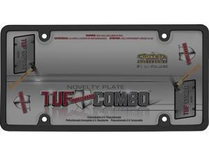 Cruiser Accessories 62052 Tuf Combo License Plate Frame and Bubble Shield, Black And Smoke