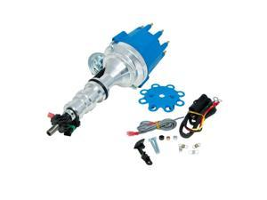 TSP Pro Series Ready-To-Run Distributor - Ford Fe 332, 352, 360, 390, 406. 410, 427, 428 Engines, Blue Cap JM7708BL