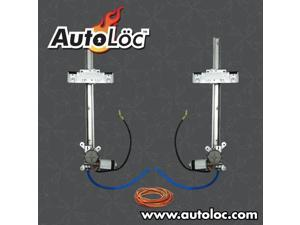 Autoloc 2 Door Flat Power Window Kit U-Wire Driver/Passengers PW5500