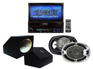 Absolute 7-Inch In-Dash TFT-LCD Monitor DVD Receiver and Speaker Combo Pack AVH4000PKG