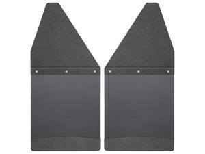 """Husky Liners Kick Back Mud Flaps Front 12"""" Wide - Black Top and Black Weight 17101"""