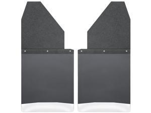 "Husky Liners Kick Back Mud Flaps 14"" Wide - Black Top and Stainless Steel Weight 17111"