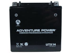 UPG Adventure Power UTX14 Sealed AGM Power Sports Battery 46032