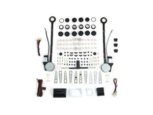 Autoloc 2 Door Universal Power Window Kit With 3 Illuminated Switches AUTPW4650