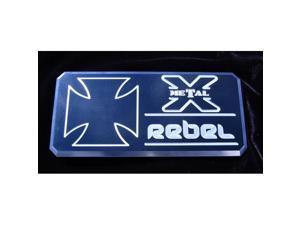 "T-REX  ""Rebel"" Series - Body Side Badges - 1 Pc - Black/ Machine BLACK/MACH 6900013"