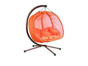 Flowerhouse FHPC100-OR Hanging Pumpkin Chair- Orange