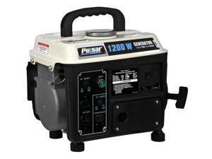 Pulsar 1200 Peak Watt Portable Two-Cycle Gasoline Generator With 72 Cc Engine PG1202S