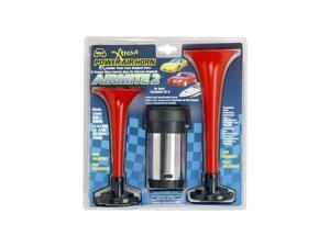 Wolo Manufacturing Air Horn Two Red Trumpets 400