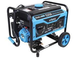 Pulsar PG5250B 5250/4250 Watt Dual Fuel (Hybrid) Portable Generator (Black)