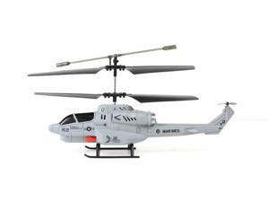 NEW!! Helizone RC Combat Fighter 3CH Gyro Indoor Helicopter Missile Launcher Grey