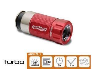 Spotlight LED Flash light Race Car Red, Rechargeable in 12volt Cigarette outlet