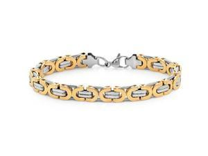 Oxford Ivy GSSB177TT 8 1/2 Inches Men's Silver and Gold 2-Tone Stainless Steel Bracelet
