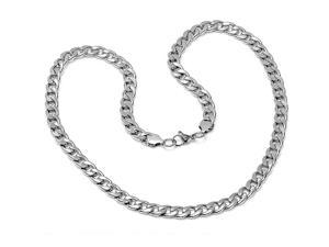 Oxford Ivy HMY-704-003-N Solid Stainless Steel Chain Link Men's Necklace 24 inches