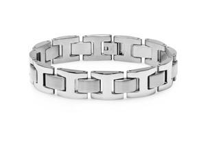 """Oxford Ivy Men's 8.5"""" Solid Stainless Steel Chain Link Bracelet"""
