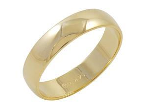 Men's 14K Yellow Gold 5mm Traditional Plain Wedding Band  (Available Ring Sizes 8-12 1/2) Size 12.5