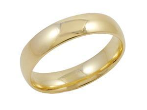 Men's 14K Yellow Gold 5mm Comfort Fit Plain Wedding Band  (Available Ring Sizes 8-12 1/2) Size 8