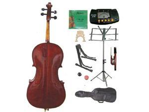 Crystalcello MC500 4/4 Size Oil Varnished Flamed Orchestra Cello