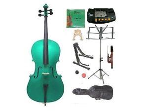 Crystalcello MC100MGR 1/2 Size Green Cello with Carrying Bag