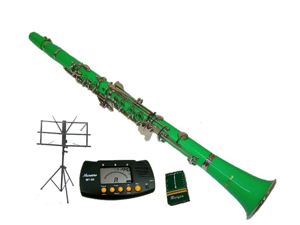 Merano B Flat GREEN Clarinet with Carrying Case