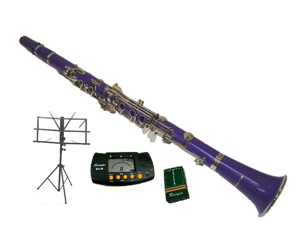 Merano B Flat PURPLE Clarinet with Carrying Case