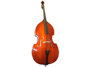 Merano MB10 4/4 Size Natural Student Double Bass with Carrying Soft Bag, Bow + Free Rosin
