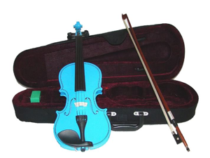 Merano MA400 14 inch Blue Ebony Fitted Viola with Case and Bow