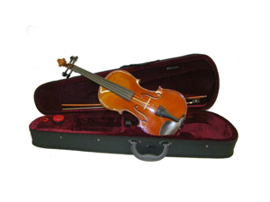 Merano MA400 14.5 inch Ebony Fitted Viola with Case and Bow