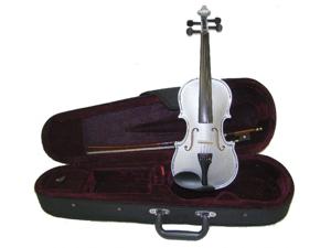Merano 3/4 Size Silver Violin with Case, Bow + Free Rosin