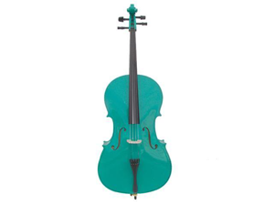 Merano MC100GR 1/4 Size Green Cello with Bag and Bow