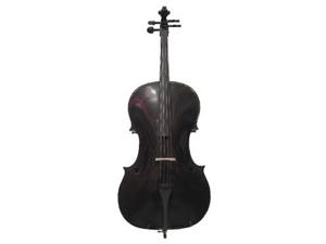 Merano MC100BK 1/2 Size Black Cello with Bag and Bow