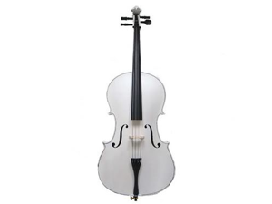 Merano MC100WT 4/4 Size White Cello with Bag and Bow