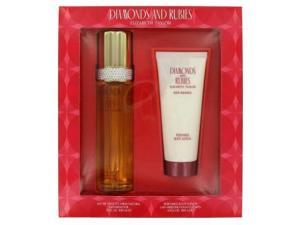 DIAMONDS & RUBIES by Elizabeth Taylor Gift Set -- 3.3 oz Eau De Toilette Spray + 3.3 oz Body Lotion for Women