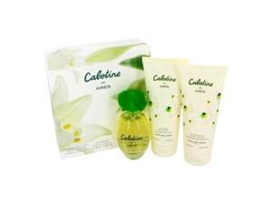 CABOTINE by Parfums Gres Gift Set -- 3.4 oz Eau De Toilette Spray + 6.7 oz Body Lotion + 6.7 oz Shower Gel for Women