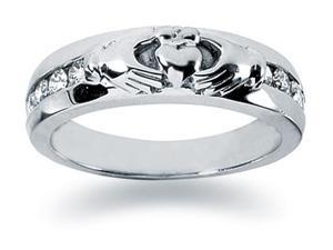 0.32 ctw. Men's Round  Diamond Wedding Band in 14K White Gold