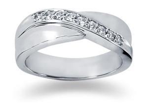 0.27 ctw. Men's Round  Diamond Wedding Band in Platinum
