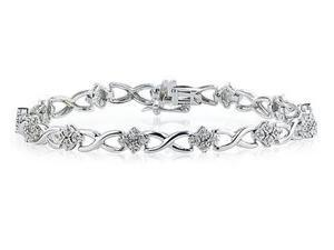 14kt White Gold 4 Stone Diamond Bracelet