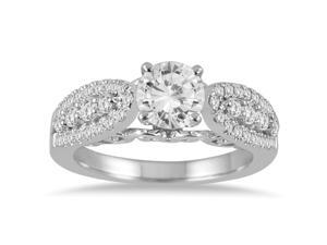 1 1/2 Carat Diamond Engagement Ring in 14K White Gold