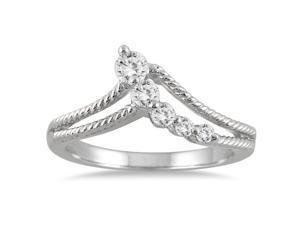 1/4 Carat Diamond Journey Ring in 10K White Gold